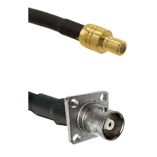 SMB Male on RG142 to C 4 Hole Female Cable Assembly