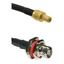 SMB Male on RG142 to C Female Bulkhead Cable Assembly