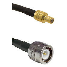 SMB Male on RG142 to C Male Cable Assembly
