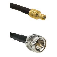 SMB Male on RG142 to Mini-UHF Male Cable Assembly