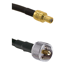 SMB Male To UHF Male Connectors RG179 75 Ohm Cable Assembly