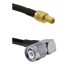 SMB Male On RG400 To Right Angle TNC Male Connectors Coaxial Cable