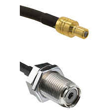 SMB Male On RG400 To UHF Female Bulk Head Connectors Coaxial Cable