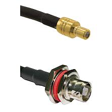 SMB Male on RG58C/U to C Female Bulkhead Cable Assembly