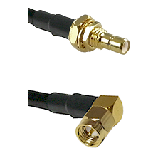 SMB Male Bulkhead on Belden 83242 RG142 to SMA Right Angle Male Cable Assembly