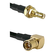 SMB Male Bulkhead on Belden 83242 RG142 to SMB Right Angle Female Cable Assembly
