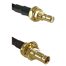 SMB Male Bulkhead on LMR100 to 10/23 Female Bulkhead Cable Assembly