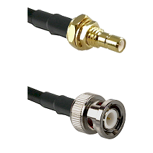 SMB Male Bulkhead on LMR100 to BNC Male Cable Assembly