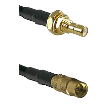 SMB Male Bulkhead on LMR100 to MMCX Female Cable Assembly