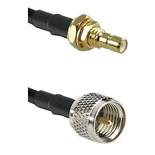 SMB Male Bulkhead on LMR100 to Mini-UHF Male Cable Assembly