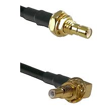 SMB Male Bulkhead on LMR100 to SSLB Male Bulkhead Cable Assembly