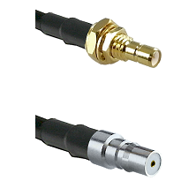 SMB Male Bulkhead on LMR-195-UF UltraFlex to QMA Female Cable Assembly