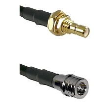 SMB Male Bulkhead on LMR-195-UF UltraFlex to QMA Male Cable Assembly