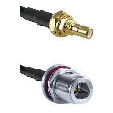 SMB Male Bulkhead on LMR-195-UF UltraFlex to N Reverse Polarity Female Bulkhead Coaxial Cable Assemb