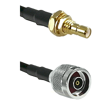 SMB Male Bulkhead on LMR-195-UF UltraFlex to N Reverse Polarity Male Cable Assembly