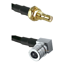 SMB Male Bulkhead on LMR-195-UF UltraFlex to QMA Right Angle Male Cable Assembly