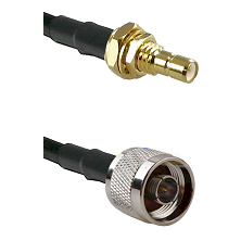 SMB Male Bulkhead on LMR-195-UF UltraFlex to N Reverse Thread Male Cable Assembly