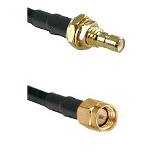 SMB Male Bulkhead on LMR-195-UF UltraFlex to SMA Male Cable Assembly