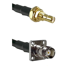 SMB Male Bulkhead on LMR-195-UF UltraFlex to TNC 4 Hole Female Cable Assembly