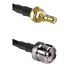 SMB Male Bulkhead on LMR-195-UF UltraFlex to UHF Female Cable Assembly