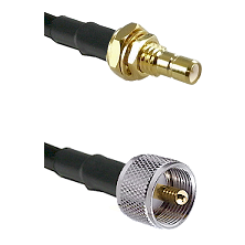 SMB Male Bulkhead on LMR-195-UF UltraFlex to UHF Male Cable Assembly