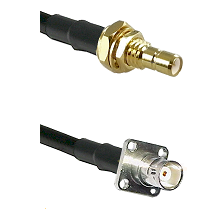 SMB Male Bulkhead on LMR200 UltraFlex to BNC 4 Hole Female Cable Assembly