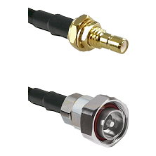 SMB Male Bulkhead on RG142 to 7/16 Din Male Cable Assembly