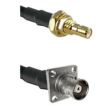 SMB Male Bulkhead on RG142 to C 4 Hole Female Cable Assembly