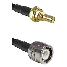 SMB Male Bulkhead on RG142 to C Male Cable Assembly