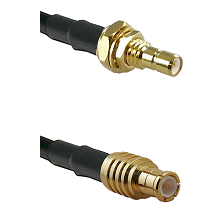 SMB Male Bulkhead on RG142 to MCX Male Cable Assembly
