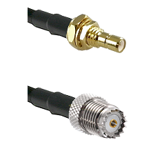 SMB Male Bulkhead on RG142 to Mini-UHF Female Cable Assembly