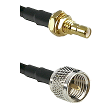 SMB Male Bulkhead on RG142 to Mini-UHF Male Cable Assembly