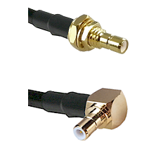 SMB Male Bulkhead on RG142 to SMB Right Angle Male Cable Assembly