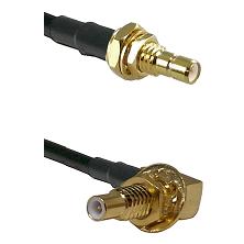 SMB Male Bulkhead on RG188 to SLB Male Bulkhead Cable Assembly