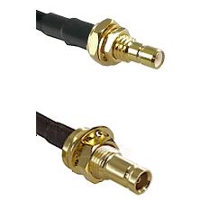 SMB Male Bulkhead on RG400 to 10/23 Female Bulkhead Cable Assembly
