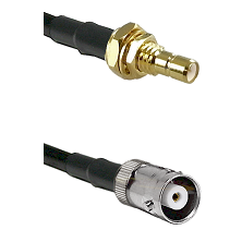 SMB Male Bulkhead on RG400 to MHV Female Cable Assembly