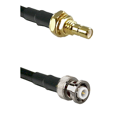 SMB Male Bulkhead on RG400 to MHV Male Cable Assembly