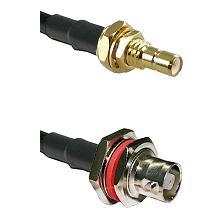 SMB Male Bulkhead on RG58C/U to C Female Bulkhead Cable Assembly