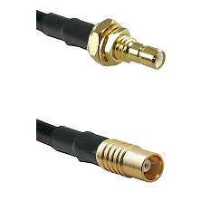 SMB Male Bulkhead on RG58C/U to MCX Female Cable Assembly