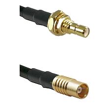 SMB Male Bulkhead on RG58C/U to MCX Female Cable Assembly