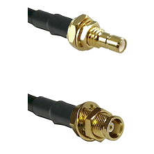 SMB Male Bulkhead on RG58C/U to MCX Female Bulkhead Cable Assembly