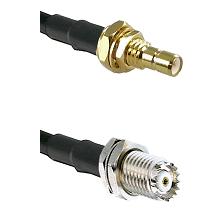 SMB Male Bulkhead on RG58C/U to Mini-UHF Female Cable Assembly