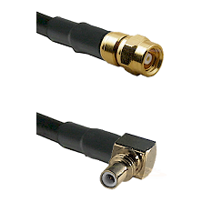 SMC Female on Belden 83242 RG142 to SSMC Right Angle Male Cable Assembly