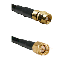 SMC Female on Belden 83242 RG142 to SMA Male Cable Assembly