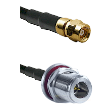 SMC Female on LMR-195-UF UltraFlex to N Reverse Polarity Female Bulkhead Cable Assembly