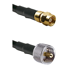 SMC Female on LMR-195-UF UltraFlex to UHF Male Cable Assembly