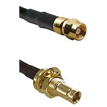 SMC Female on LMR200 UltraFlex to 10/23 Female Bulkhead Cable Assembly
