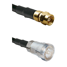 SMC Female on LMR200 UltraFlex to 7/16 Din Female Cable Assembly
