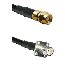 SMC Female on LMR200 UltraFlex to BNC 4 Hole Female Cable Assembly