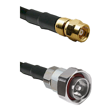 SMC Female on RG142 to 7/16 Din Male Cable Assembly